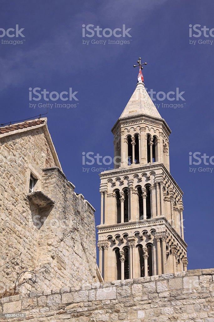 Saint Domnius Cathedral, Split, Croatia. stock photo