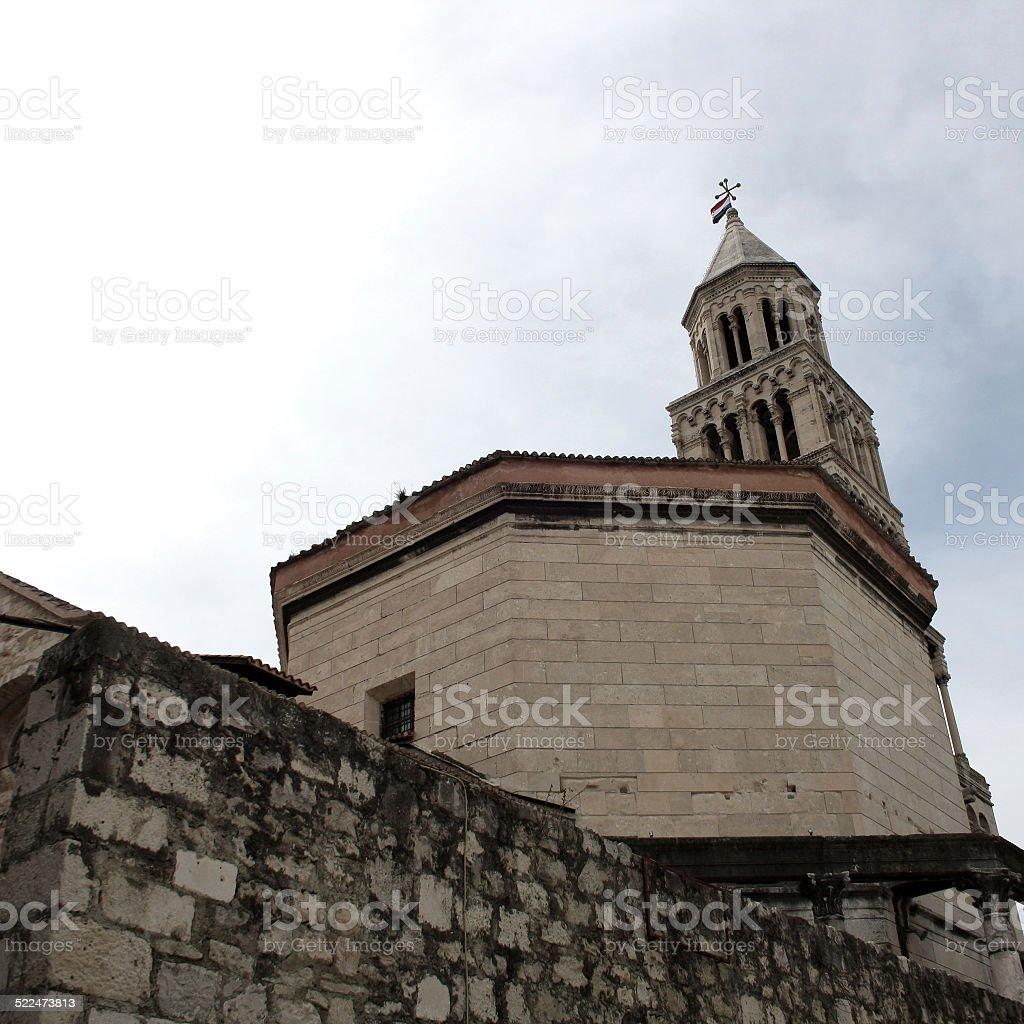 Saint Domnius Cathedral, Split stock photo