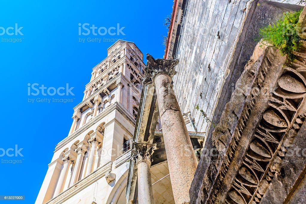 Saint Domnius landmark Split. stock photo