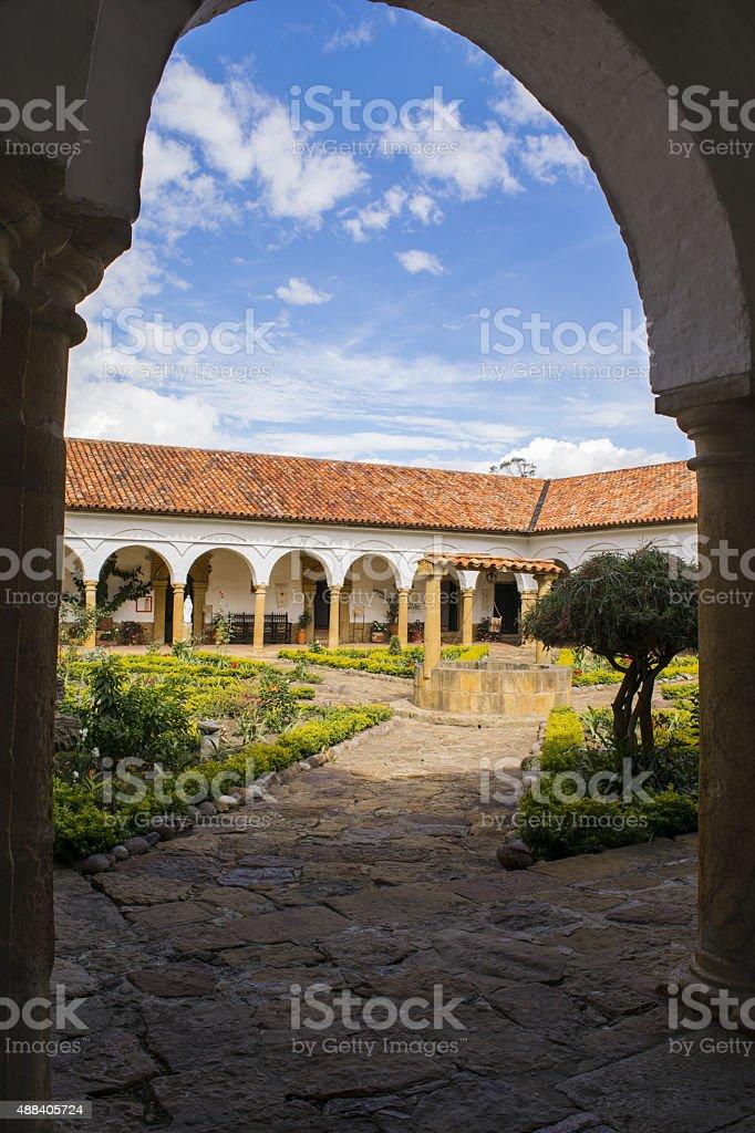 Saint Ecce Homo Monastery, View from inside stock photo