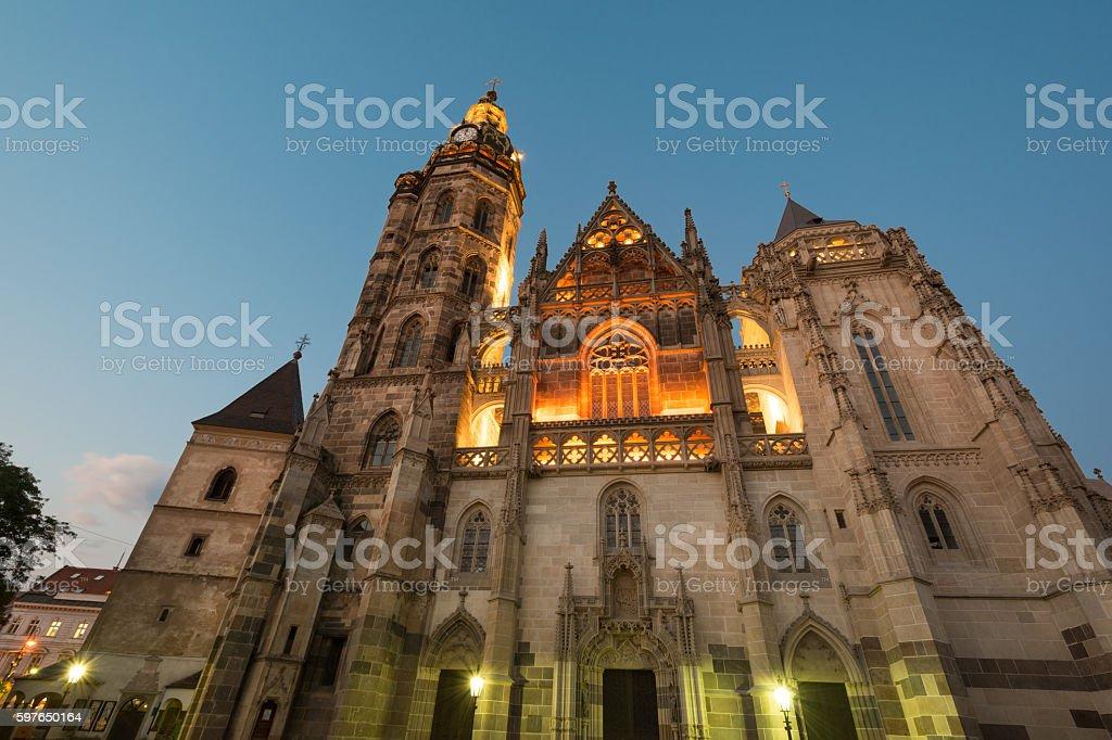 Saint Elisabeth Cathedral stock photo