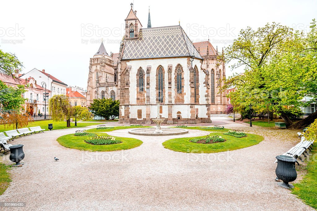Saint Elizabeth cathedral in Kosice stock photo