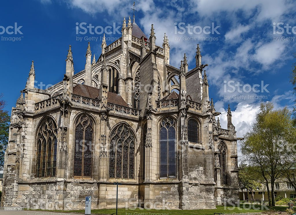 Saint Etienne Church, Beauvais, France stock photo