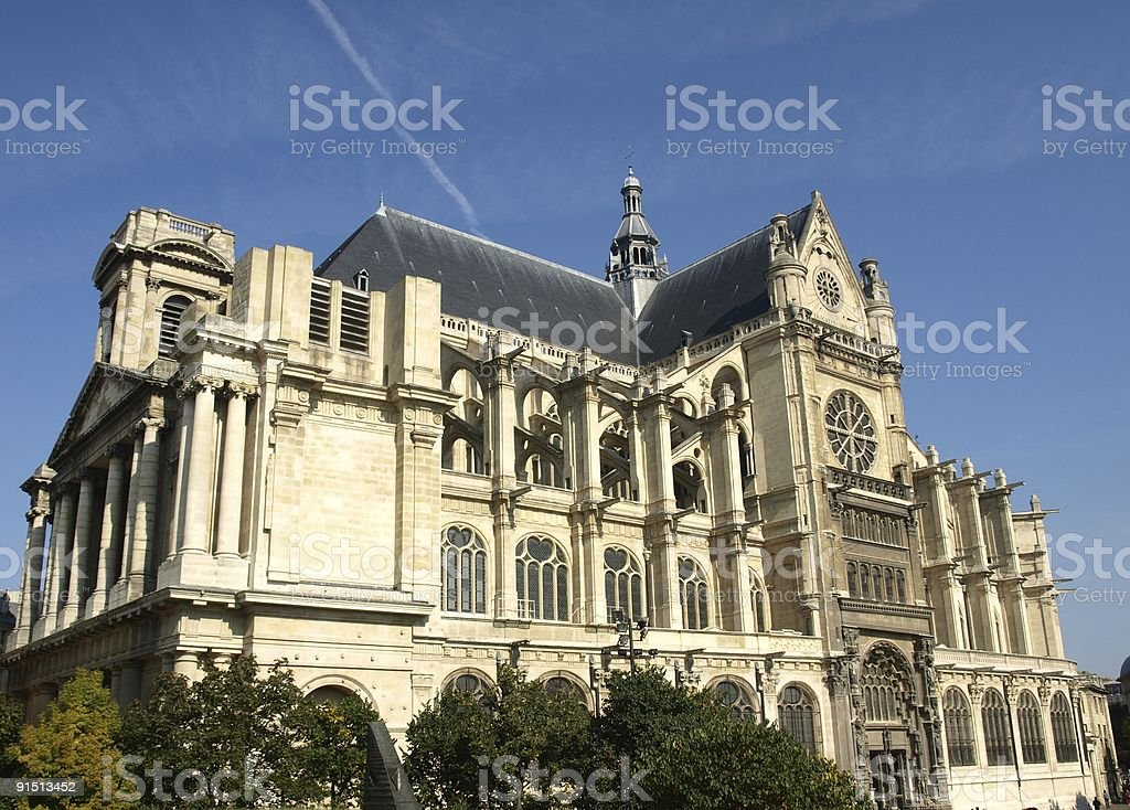 Saint Eustache,Paris stock photo