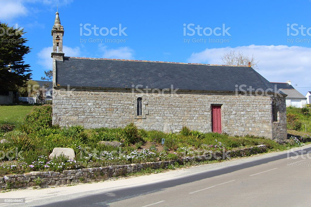 Sainte Evette chapel in Esquibien stock photo