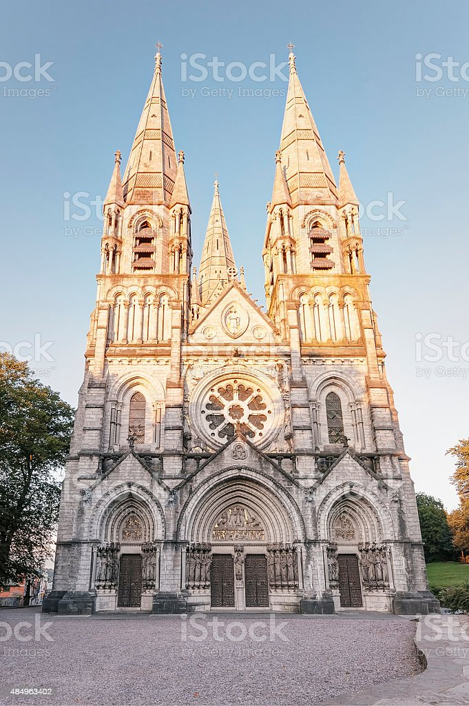 Saint Fin Barre's Cathedral in Cork, Ireland stock photo