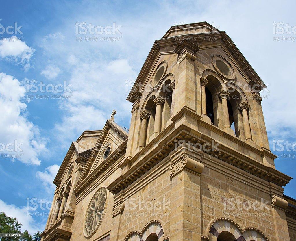 Saint Francis Cathedral Basilica in Santa Fe royalty-free stock photo