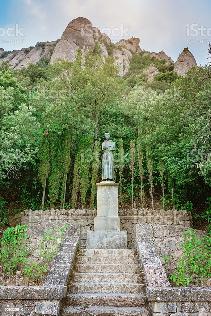 Saint Francis of Assisi Montserrat Monastery Catalonia stock photo