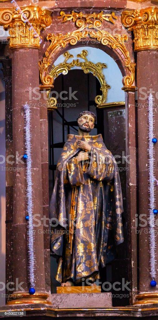 Saint Francis Statue Convent Nuns San Miguel de Allende Mexico stock photo