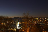 Saint Gallen Panorama with Cathedral Highlighted