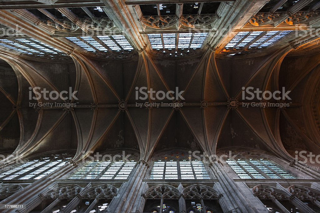 Saint Gatien cathedral royalty-free stock photo