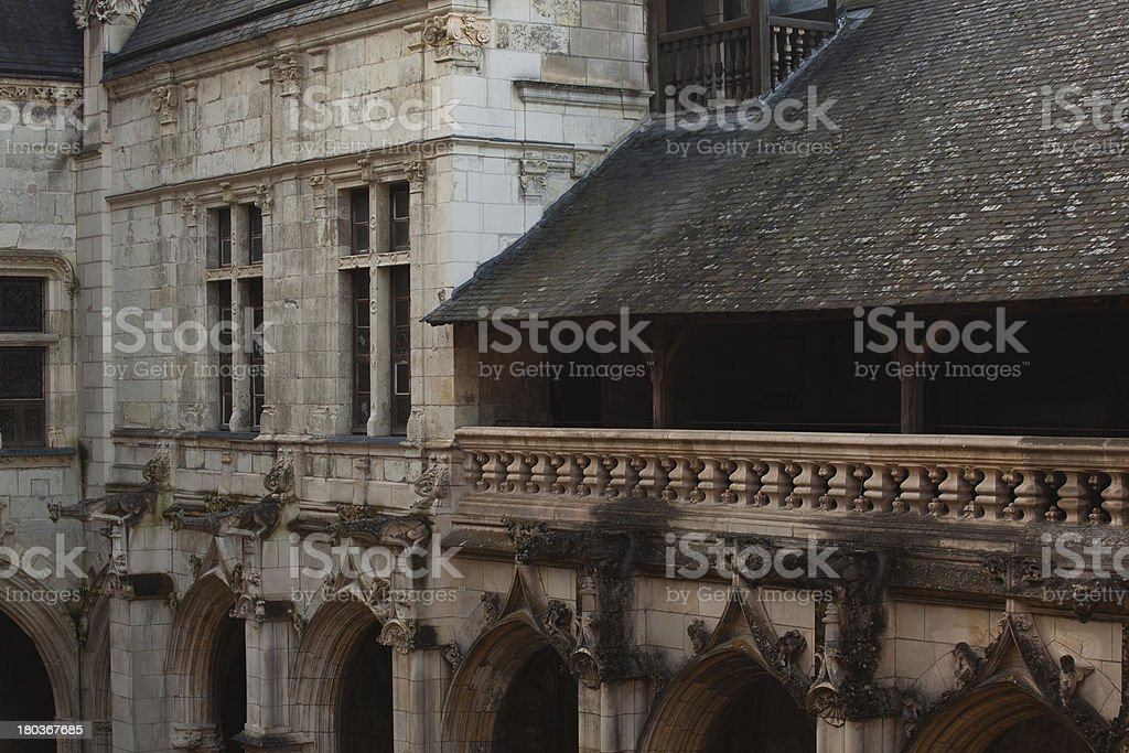 Saint Gatien cloisters royalty-free stock photo