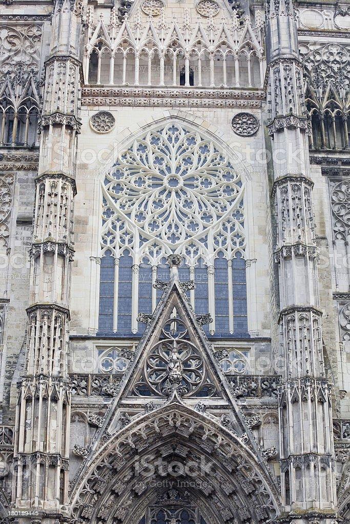 Saint Gatien detail royalty-free stock photo