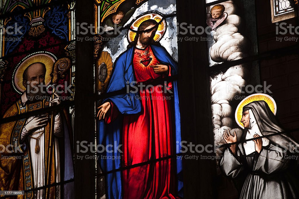Saint Gatien stained glass royalty-free stock photo