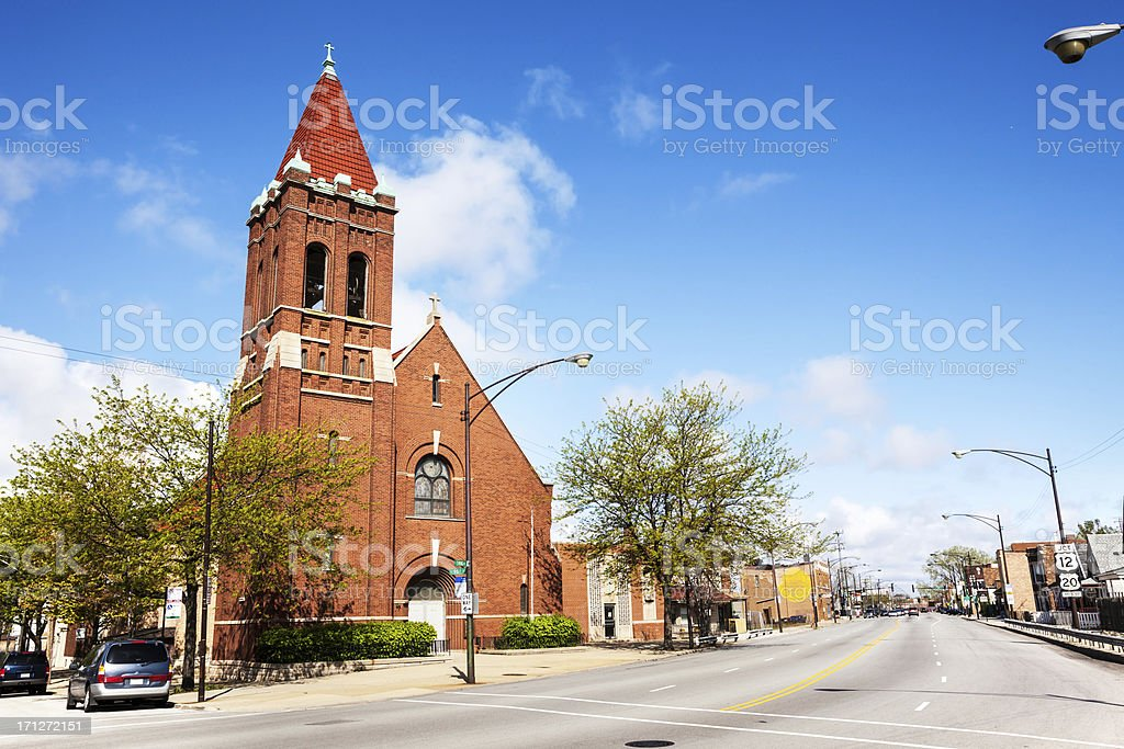 Saint George Church in East Side, Chicago royalty-free stock photo