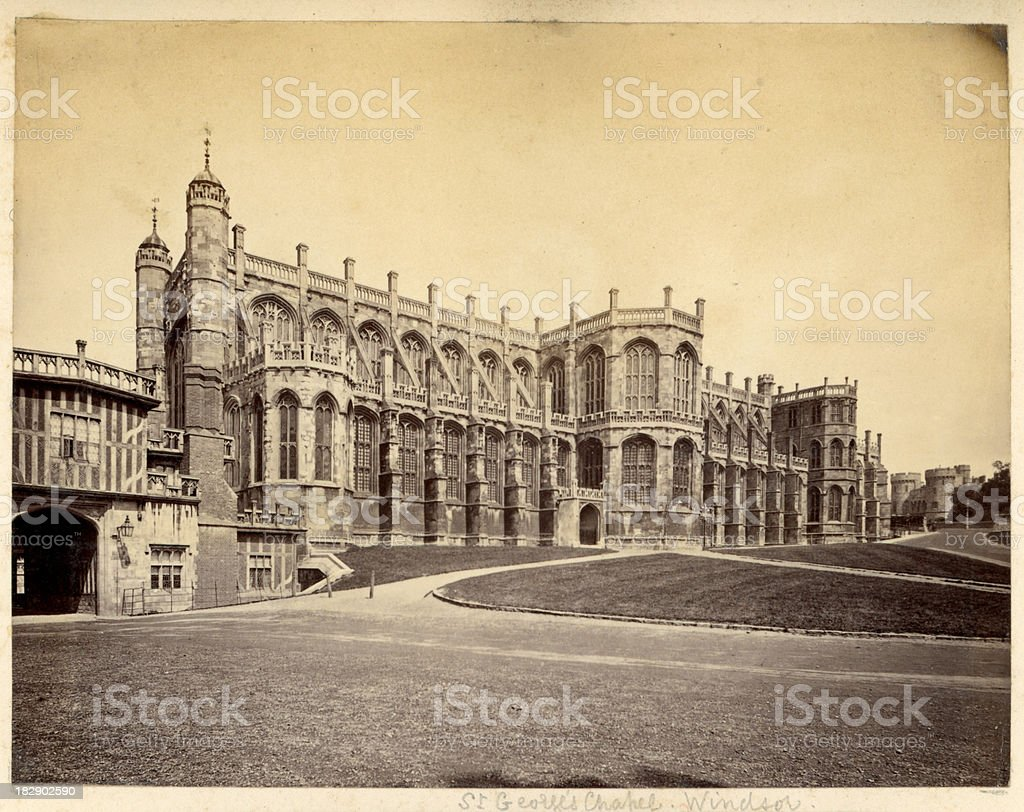 Saint George's Chapel Windsor royalty-free stock photo