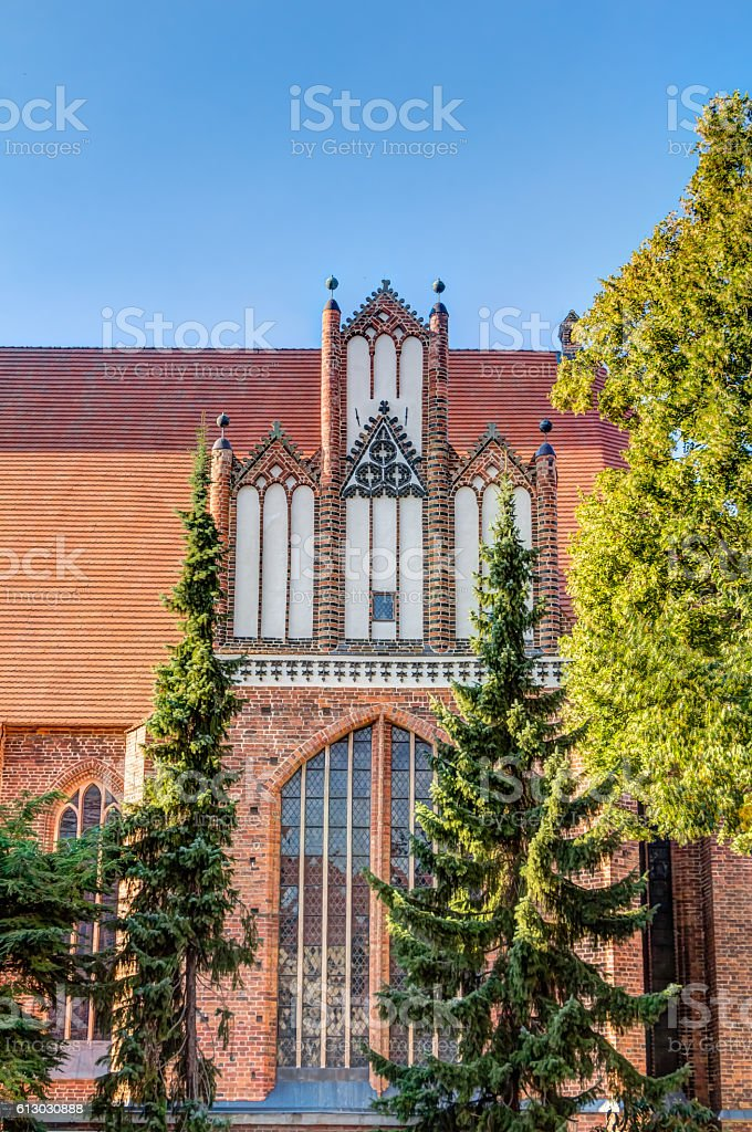Saint Georges church in Parchim stock photo