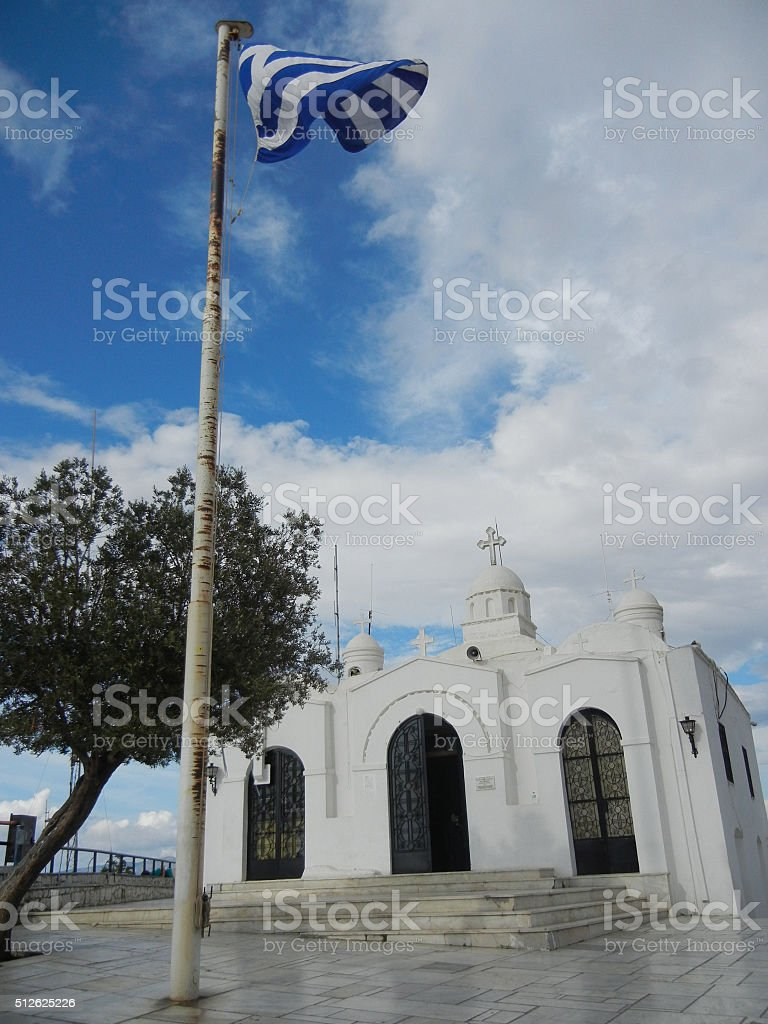 Saint George's Church Mount Lycabettus stock photo