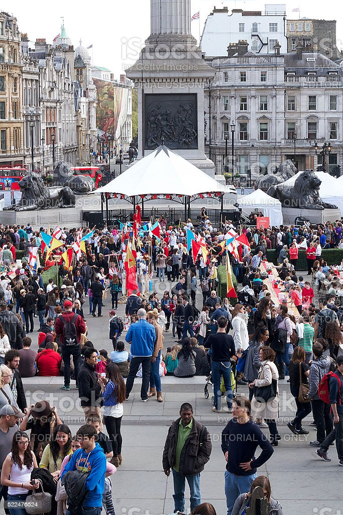 Saint Di George giorno di festeggiamenti a Londra foto stock royalty-free