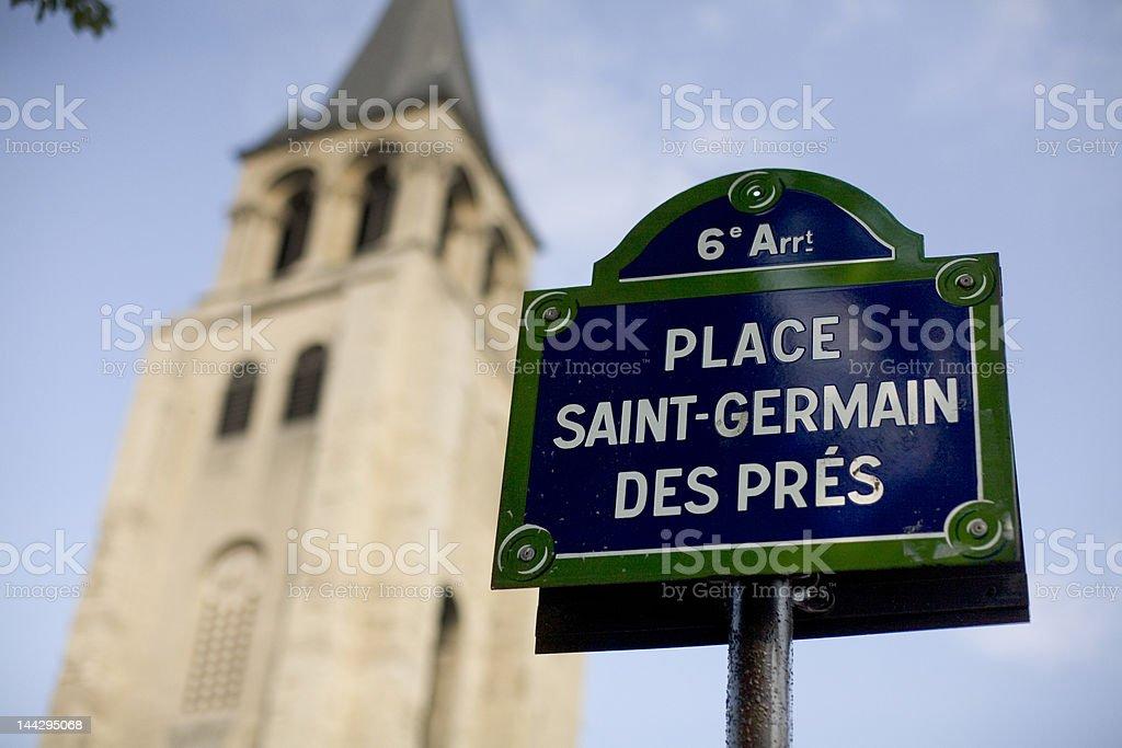 Saint Germain Des Pres stock photo