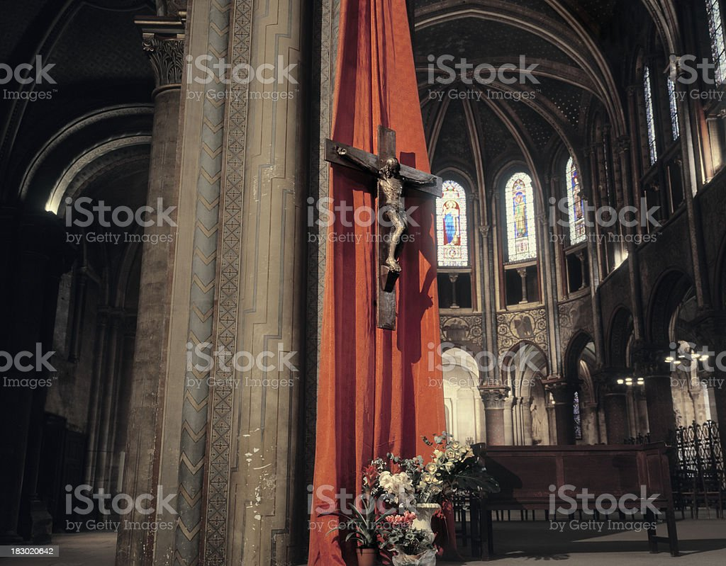 Saint Germain-des-pres church, Paris, France. royalty-free stock photo