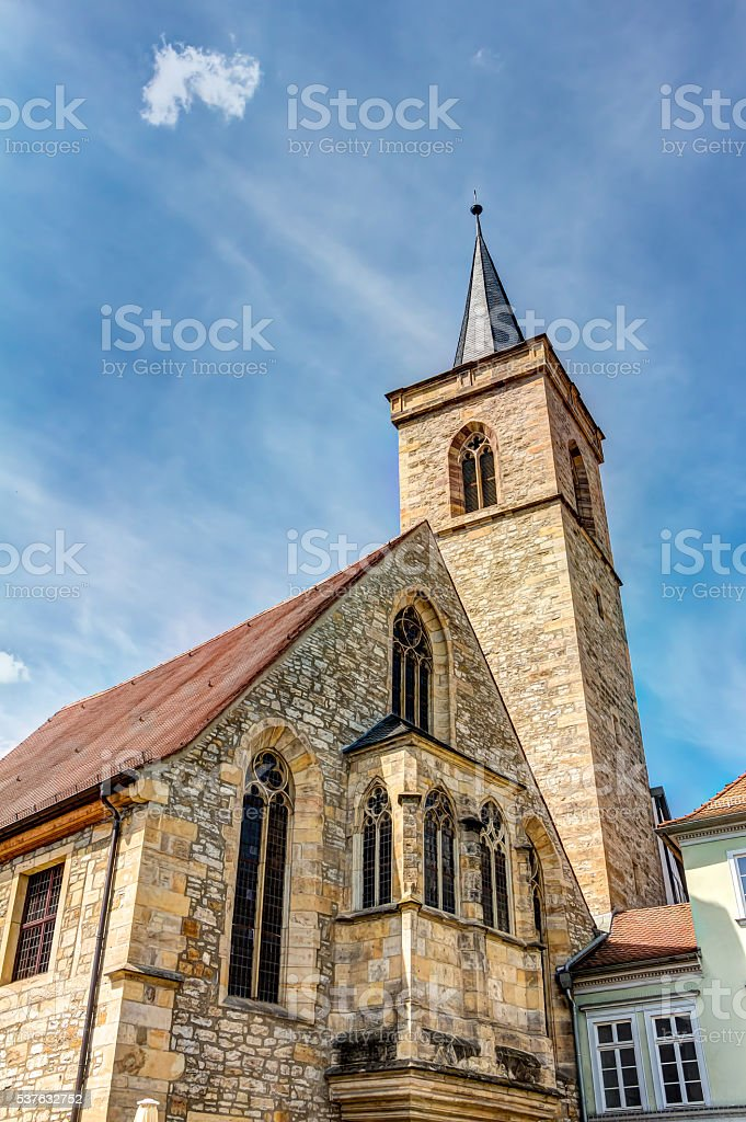 Saint Giles church in Erfurt stock photo