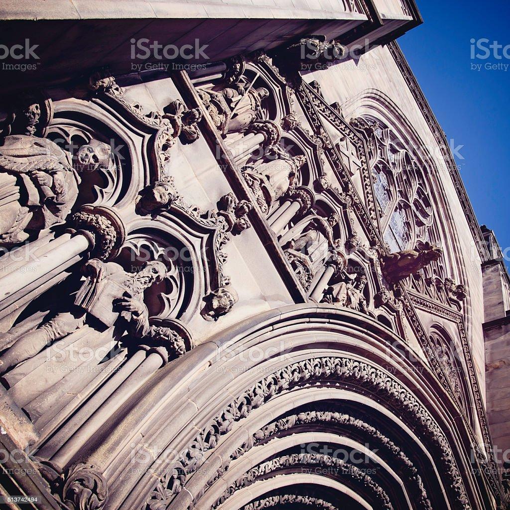 Saint Giles, the presbyterian cathedral of Edinburgh stock photo