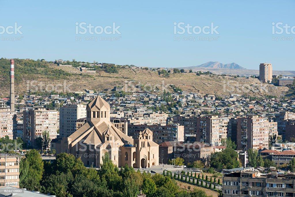Saint Gregory the Illuminator Cathedral in Yerevan, Armenia stock photo