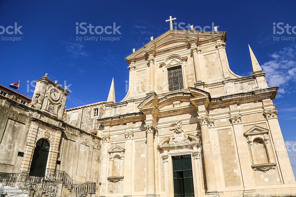 Saint Ignatius Church Dubrovnik stock photo