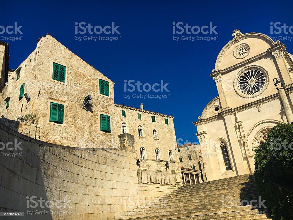 Saint James cathedral in Sibenik, Croatia stock photo
