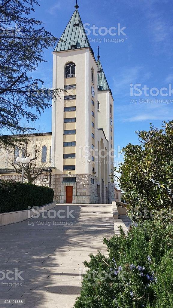 Saint James Catholic Church, Medjugorje, Bosnia-Herzegovina stock photo