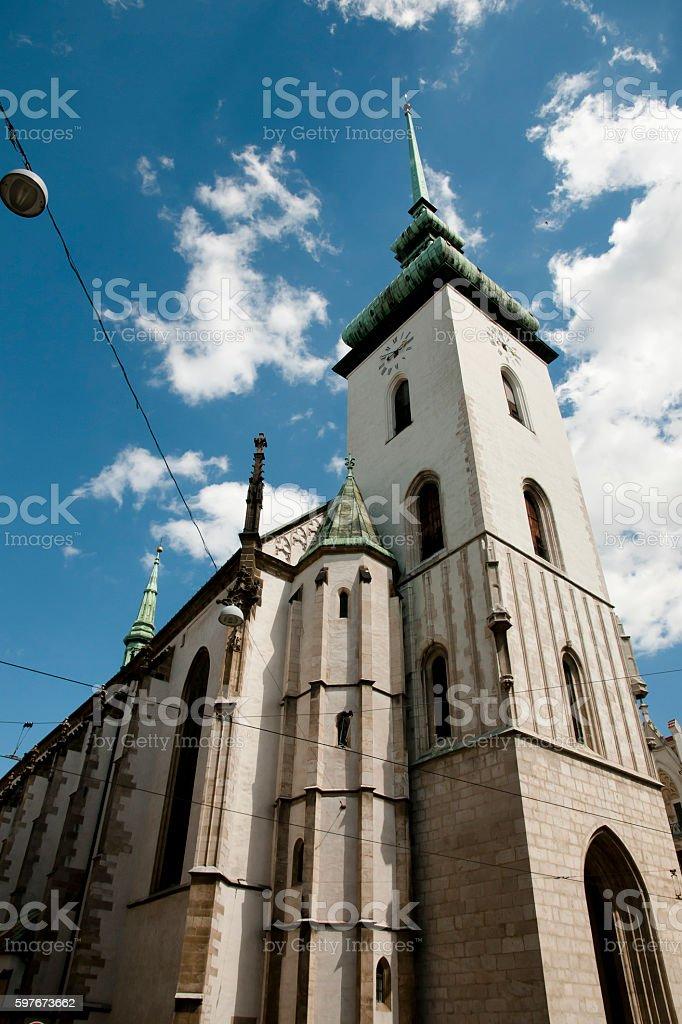 Saint James Church - Brno - Czech Republic stock photo