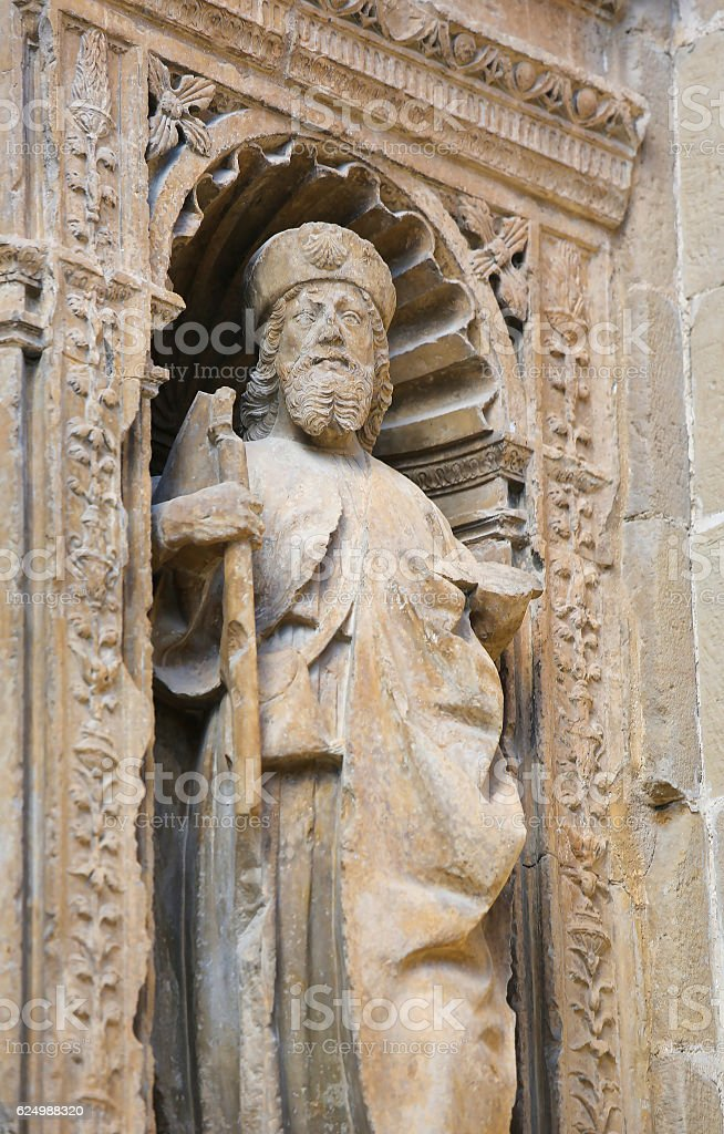 Saint James the Greater at the Saint Thomas Church stock photo