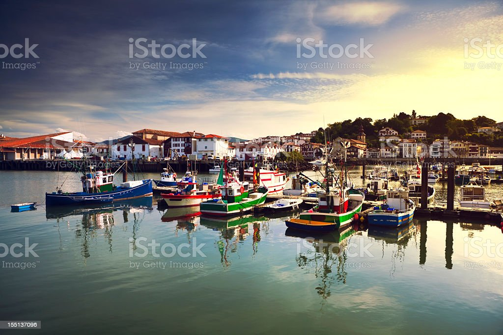 Saint Jean de Luz harbour stock photo