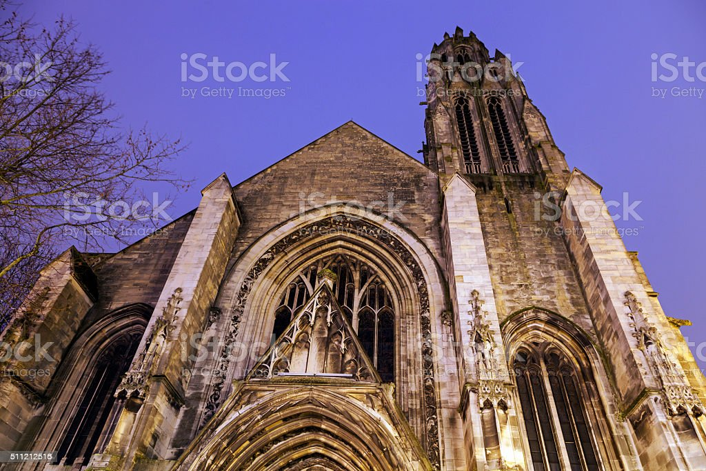 Saint Jean-Baptiste Church in Arras stock photo