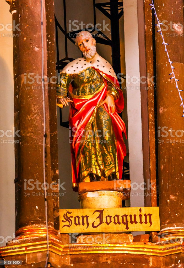 Saint Joaquin Statue Mary's Father Nuns San Miguel Mexico stock photo