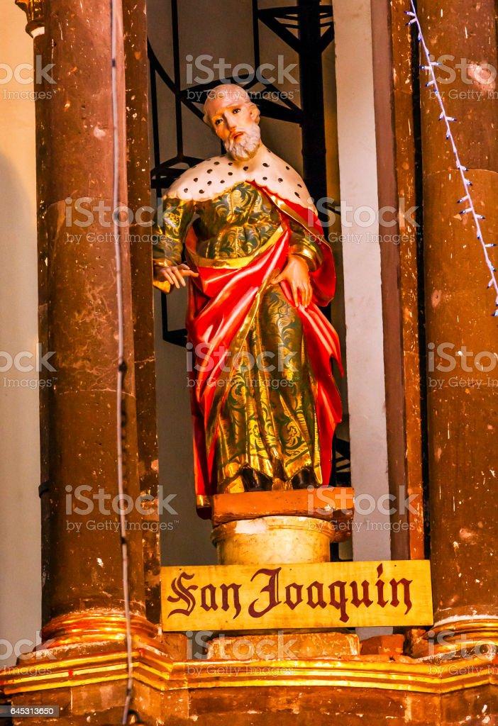 Saint Joaquin Statue Mary's Father Nuns San Miguel Mexico stock photo