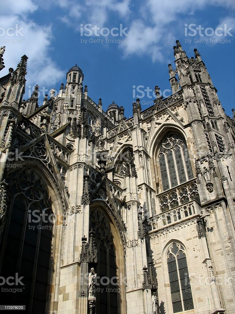 Saint John cathedral in Den Bosch stock photo