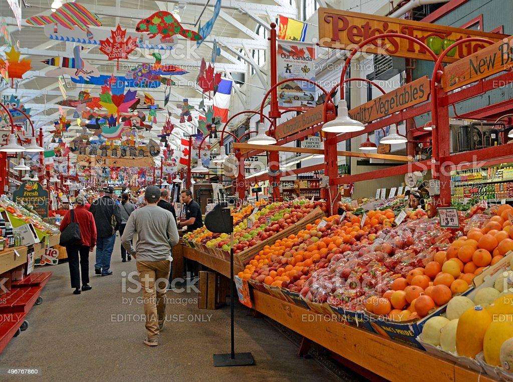 Saint John City Market stock photo