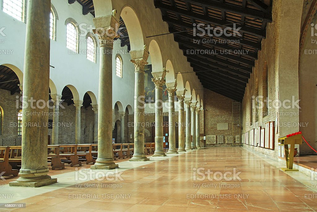 Saint John Evangelista interior. royalty-free stock photo