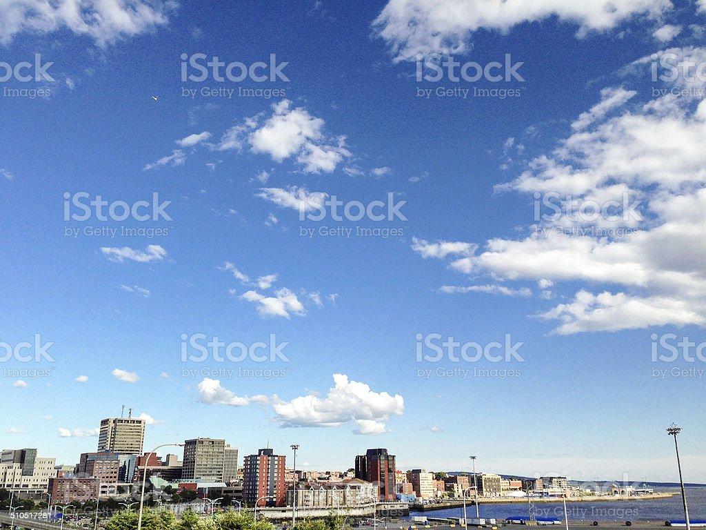saint john skyline stock photo