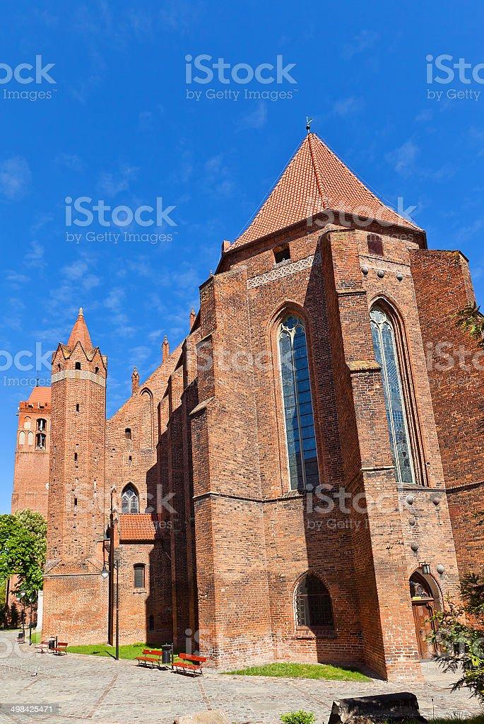 Saint John the Evangelist Cathedral (1384) in Kwidzyn town, Poland stock photo