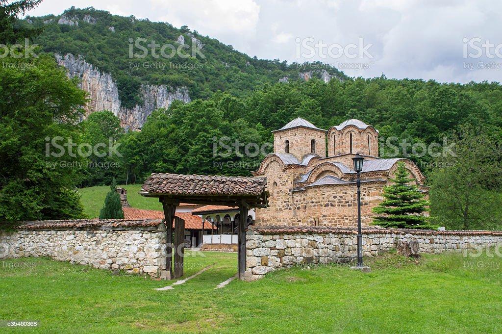 Saint John the Evangelist Monastery near Poganovo Village, Serbia stock photo