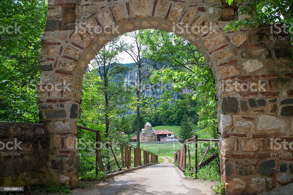 Saint John The Theologian Monastery near Poganovo Village, Serbia stock photo