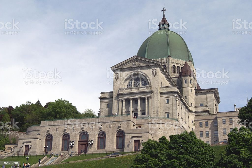 Saint Joseph Oratory in Montreal, Canada stock photo