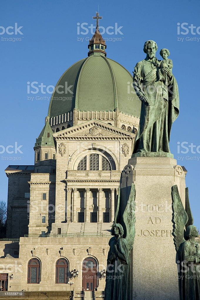 Saint Joseph Oratory in Montreal stock photo