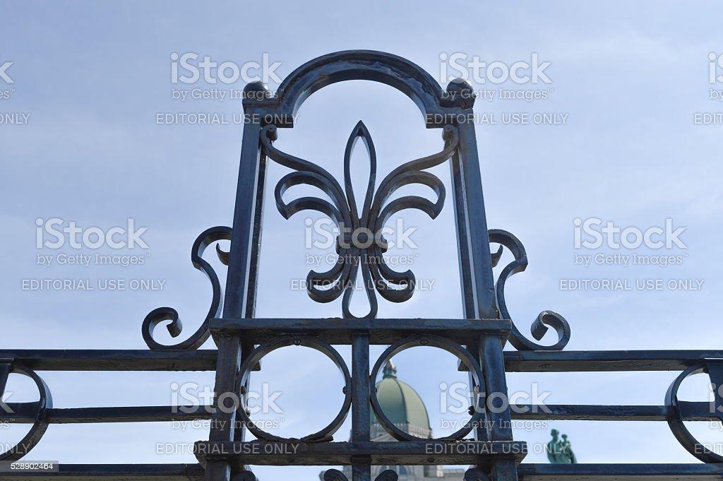 Saint Joseph's Oratory' black fence stock photo