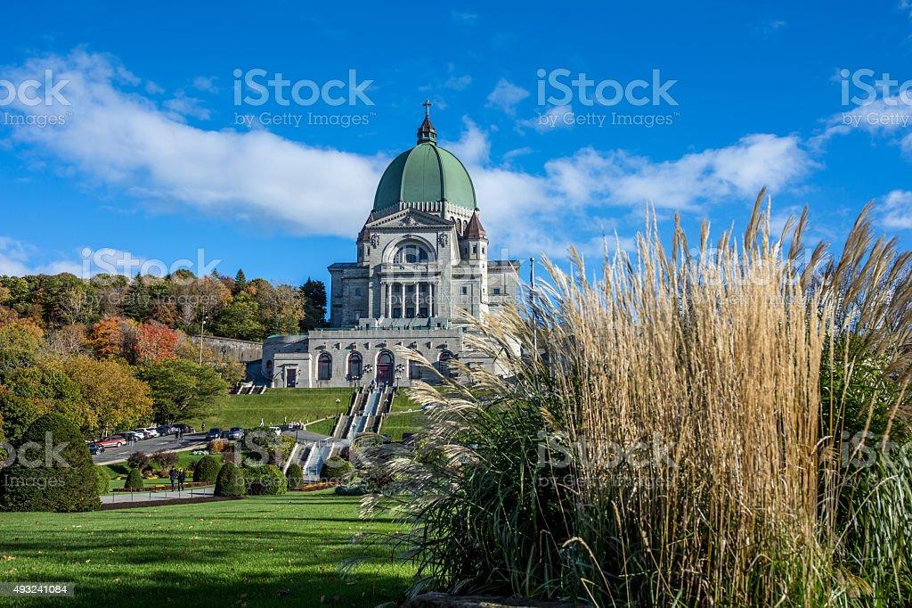 Saint Joseph's Oratory in Autumn, Montreal, Quebec stock photo
