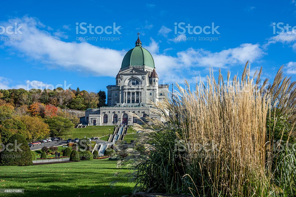 Saint Joseph's Oratory in Autumn, Montreal, Quebec stock photo