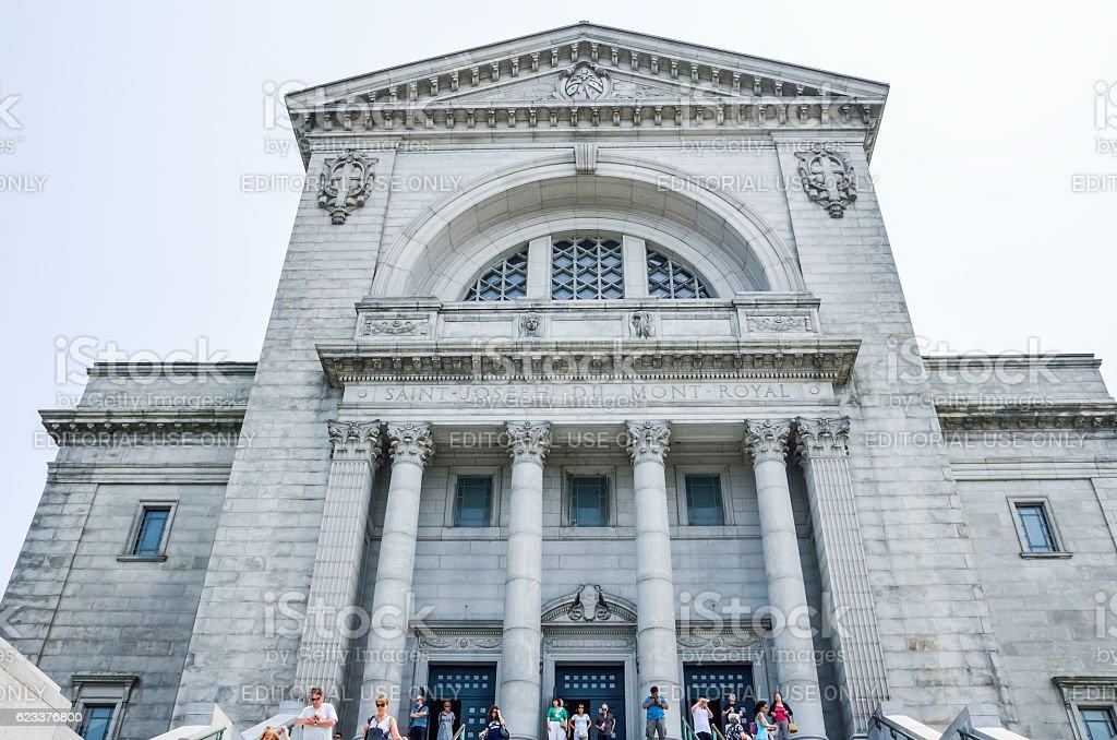 Saint Joseph's Oratory of Mount Royal and people stock photo